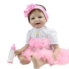 Vente chaude solide silicone reborn baby poupées en gros réaliste bébé doux poupées poupée de mode cadeau De Noël nouvel an cadeau