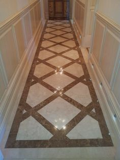 Diamond Pattern Floor Tile Design with all 4 corners clipped with 2 ...