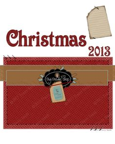 Christmas 2013 premade scrapbook page red photo by DigiDoodleShop, $3.99 #Christmasmemories #scrapbook #newyearprojects