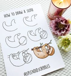 Would you like to learn how to add doodles to your bullet journal? The internet is filled with fun and creative bullet journal doodle ideas and tutorials. Bullet Journal Aesthetic, Bullet Journal Art, Bullet Journal Ideas Pages, Bullet Journal Inspiration, Journal Prompts, Sloth Drawing, Doodle Art Drawing, Drawing Tablet, Arte Doodle