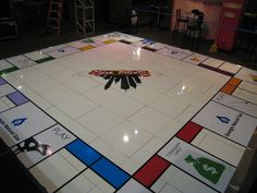 Yes, a Monopoly inspired Dance Floor! Decals » I Do Linens