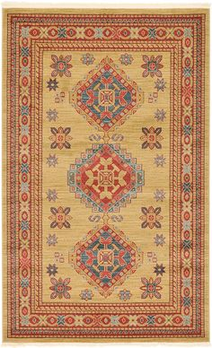 Geometric 5 feet by 8 feet (5' x 8') Serapi Beige Area Rug *** See this great image  (This is an amazon affiliate link. I may earn commission from it)