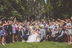 Wedding celebration at the Hare and Hounds Hotel