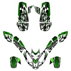 Amazon.com: Polaris Predator 500 ATV Graphics Decal Kit By Allmotorgraphics No2500-green fits all years: Automotive