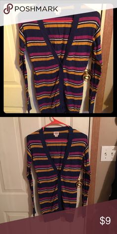 🌷Mossimo Button up Sweater🌷 Striped sweater , like new!‼️BUNDLE ME Mossimo Supply Co Sweaters