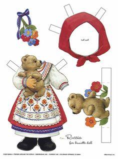 Russia. Brunette doll
