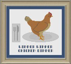 Winner winner chicken dinner: funny by nerdylittlestitcher on Etsy