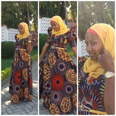 SUBIRA WAHURE: HIJAB STYLE; AFRO CHIC... Now that's how you wear some African print, hijab style!
