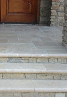 Front Steps Design, Pictures, Remodel, Decor and Ideas - page 2 Front Porch Steps, Front Stairs, Front Porch Design, Front Walkway, Front Entry, Porch Stairs, Porch Tile, Porch Flooring, Patio Steps