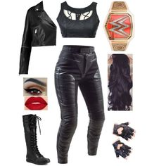 What I (Ella) wore to Baron's match against Seth Get rid of the title and the boots Wrestling Costumes, Wrestling Outfits, Wwe Outfits, Dress Outfits, Cool Outfits, Dresses, Roman Reigns Daughter, Dean Ambrose, Wwe Divas