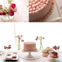 Multiple small wedding cakes