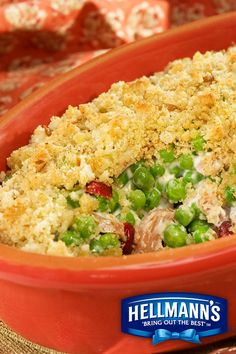 Autumn is in the air with our Sweet Pea Autumn Casserole. Hellmann's Mayonnaise helps keep it creamy and delicious.