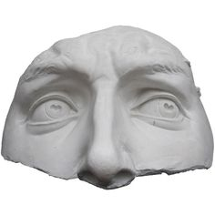 Galleria Romanelli Occhi David Plaster Sculpture (£345) ❤ liked on Polyvore featuring home, home decor, fillers, mask, faces, art, decor, white, embellishment and detail