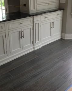 tile that looks like wood pepper gray | Wood look tile from houzz.com