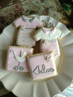 Baby shower cookies www.MadamPaloozaE... www.facebook.com/...