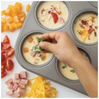 Frittatas - Easy and good! Freeze in a plastic container, thaw and microwave for 30 seconds for a quick breakfast throughout the week.