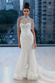 7208b78193 Ines di Santo showed her fall wedding dresses at Bridal Fashion Week. See  the fall 2018 wedding dresses from Ines di Santo bridal.