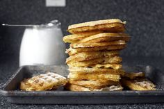 Essential Raised Waffles by The Boston Cooking-School Cook Book, shown here by Smitten Kitchen Fluffy Waffles, Pancakes And Waffles, Yummy Waffles, Waffle Recipes, Brunch Recipes, Breakfast Recipes, Cream Recipes, Pancake, Gastronomia