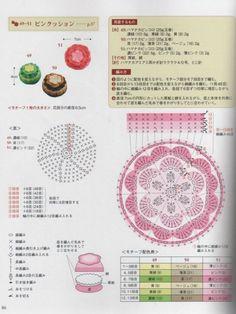 Gallery.ru / Фото #33 - Revista Japonesa - simplehard Crochet Pincushion, Crochet Cupcake, Crochet Clutch, Crochet Food, Crochet Chart, Crochet For Kids, Free Crochet, Crochet Motif, Granny Square Bag