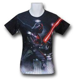 Images of Star Wars Vader Saber Battle Sublimated T-Shirt