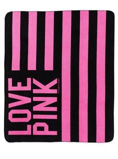 I happen to already own this Victoria's Secret PINK Stadium Blanket & I just have to say. Totally worth the splurge! Pink Love, Vs Pink, Pretty In Pink, Pink Wallpaper, Pattern Wallpaper, Trendy Wallpaper, Victoria Secret Bedding, Cute Pink Background, Pink Blanket
