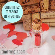 DIY Valentines Message in a Bottle
