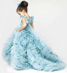 Luxury Blue Turquoise Tail Mermaid Pageant Prom Princess Junior Bidesmaid Ball Gown This elegant turquoise ball gown is made perfectly! Perfect for Birthday, Wedding or any special day. Available from 2 until 14 years old  Material: Satin, organza, tulle mesh, cotton Before checkout, you may leave a note about the desired color of the dress & your little girl measurements as details below if her size is not listed in our size guide: a) Chest: _ _ _ _ _ cm / Inches b) Waist: _ _ _ _ cm…