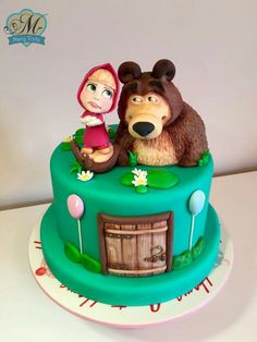 Masha And The Bear, Winnie The Pooh, Birthday Cake, Baby Cakes, Cake Ideas, Modeling, Desserts, Mary, Artists