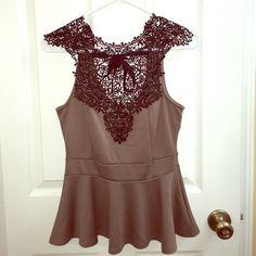 top Beautiful brown top. 95% rayon 5% spandex. trade Tops