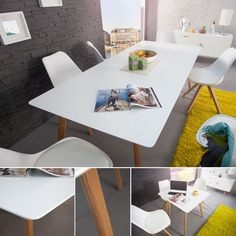 design retro esstisch scania meisterstuck tisch beine eiche weiss massiv in mobel wohnen mobel tische ebay