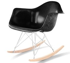 Authentic, original, and with a five year guarantee:  Eames® Molded Fiberglass Rocker - Seating - Furniture