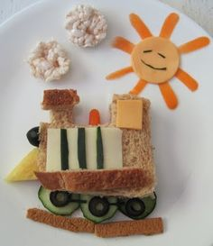 SUNDAY BAKER: Play With Your Food: Train Sandwich