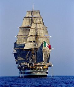 "The ""Amerigo Vespucci"", Tall Ship from Italy with a sail area of 2580 m2"