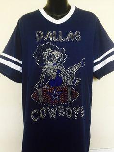 d23d13b12 ... DALLAS COWBOYS BETTY BOOP FOOTBALL RHINESTONE JERSEY 45 ...