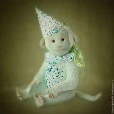 Teddy Bears handmade. Monkey amber author collectible toy Teddy. Aleksandra Kulikova (listeningdwarfs). My Livemaster.interior toy #teddy #bear #teddybear #handmade #artdoll #ooakteddy #toy #bunny #teddybunny #rabbit #teddyrabbit #motherday