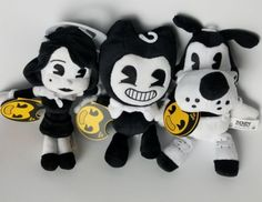 Bendy and the Ink Machine Collectible Plush Set of 3 toys
