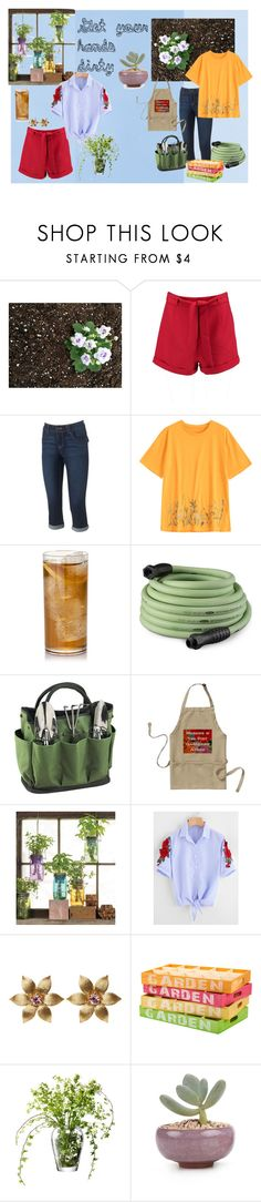 """""""Get your hands dirty"""" by carolinewinter on Polyvore featuring Boohoo, Artisan Crafted By Democracy, Improvements, Picnic at Ascot, Modern Sprout, La Perla and LSA International"""