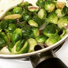 Honey glazed Brussels sprouts with dried cranberries