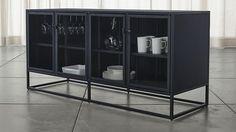 CasementLgSdbrdBlackSHS15_1x1 Metal Sideboard, Large Sideboard, Sideboard Ideas, Unique Furniture, Custom Furniture, Urban Furniture, Steel Furniture, Affordable Furniture, Kitchen Furniture