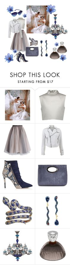 """""""Blue Snake"""" by forgottenmelody ❤ liked on Polyvore featuring TIBI, Chicwish, Jakett, Donald J Pliner, Betsey Johnson, Saint-Louis Crystal and Nanette Lepore"""