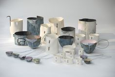 Hilary Mayo ceramics - layers, muted colours, drips, cracks, rust ...perfection!