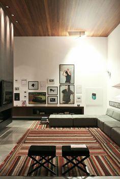 Living Room FF House by Studio Guilherme Torres