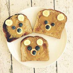 Peanut Butter Bear Toast