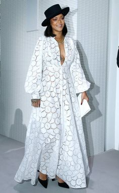 Rihanna Stuns at the LVMH Prize Ceremony in Christian Dior African Maxi Dresses, African Attire, African Wear, Women's Fashion Dresses, Dress Outfits, Fashion Clothes, Fall Outfits, Summer Outfits, Rihanna Style