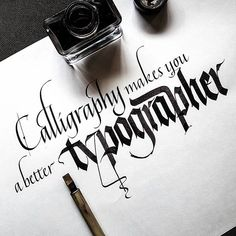 What do you think? . . . #calligraphyvstype #calligraphymasters #thedailytype #goodtype #typematters #typegang