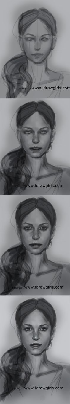 drawing portrait tutorial front view (2)