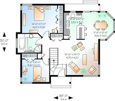 Traditional Style House Plans   994 Square Foot Home , 1 Story, 2 Bedroom  And