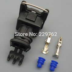 50Kit universal 2 Way 2 PIN 3.5MM MAP Car Fuel Injector Socket Plug DURITE MULTIPLE CONNECTORS JUNIOR POWER TIMER JPT CONNECTOR