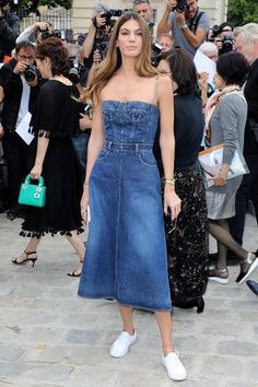 Bianca Brandolini d'Adda is seen arriving at the 'Christian Dior' show during Paris Fashion Week Haute Couture Fall/Winter 20172018 on July 3 2017 in...