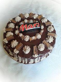 Mars csokitorta Erika, Mars, Birthday Cake, Desserts, Food, Caramel, Tailgate Desserts, Birthday Cakes, Deserts